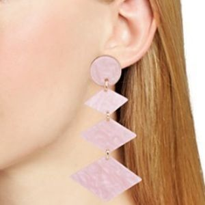 BaubleBar Shanti Resin Drop Earrings, Blush
